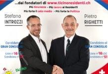 Stefano Introzzi e Pietro Righetti candidati UDC al Gran Consiglio