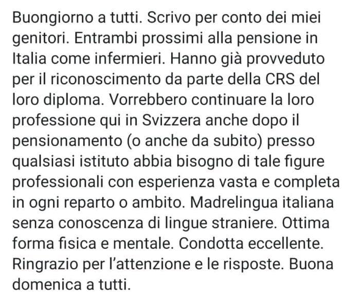 LAVORO - Dopo la pensione, vengo a lavorare in Ticino