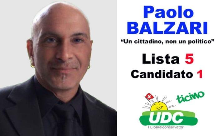 Paolo Balzari - Candidato al Consiglio Comunale di Bellinzona - Lista 5 Candidato 1