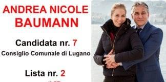 Andrea Nicole Baumann Candidata al Consiglio Comunale di Lugano Lista n. 2, candidata n. 7