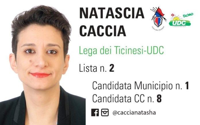 Natascia Caccia - Candidata Municipio Nr. 1 e Candidata Consiglio Comunale Nr. 8 - Lista Nr. 2