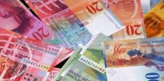 FRANCO SVIZZERO: rialzo sull'euro, effetto coronavirus