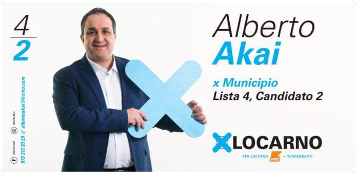 Alberto Akai - candidato 2 lista 4 x Municipio Locarno