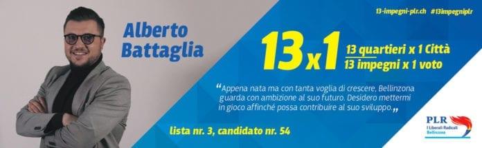 Alberto Battaglia - Candidato al Consiglio Comunale di Bellinzona - Lista 3 Candidato 54