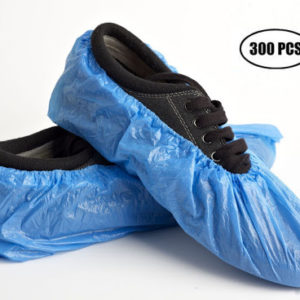 copriscarpe in polietilene blu TIResidenti