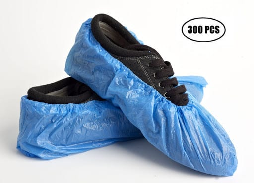 copriscarpe in polietilene blu TIResidenti