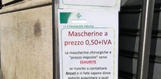 MASCHERINE: introvabili nelle farmacie in Italia, giallo sul prezzo imposto a 50 centesimi