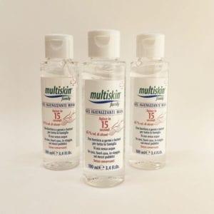 MULTISKIN Family Gel Igenizzante Mani 100ml dispenser bottiglia - BOX RISPARMIO 3pz