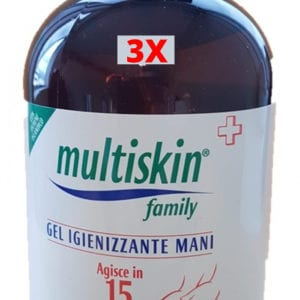 MULTISKIN Family Gel Igenizzante Mani 500ml dispenser bottiglia