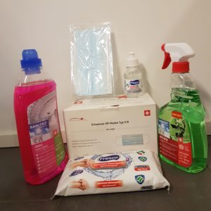 """KIT ANTICOVID """"Chirurgiche"""" + disinfettanti - BOX RISPARMIO"""