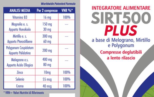 SIRT500 Plus: stimola naturalmente la produzione di sirtuine