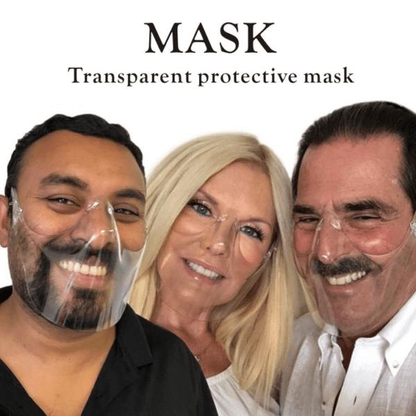 MASCHERINE: eleganti e di nuovo in contatto con gli altri con quella trasparente