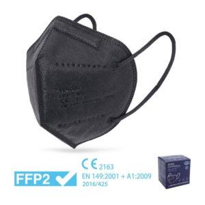 MASCHERINA FFP2 NERA - imbustata singolarmente – Box RISPARMIO 10 pz - TIResidenti
