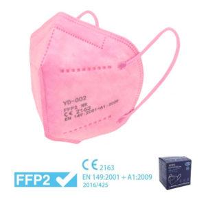 MASCHERINA FFP2 ROSA - imbustata singolarmente – Box RISPARMIO 10 pz - TIResidenti