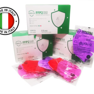 mascherine FFP2 multicolor made in Italy - BOX RISPARMIO 10 pezzi