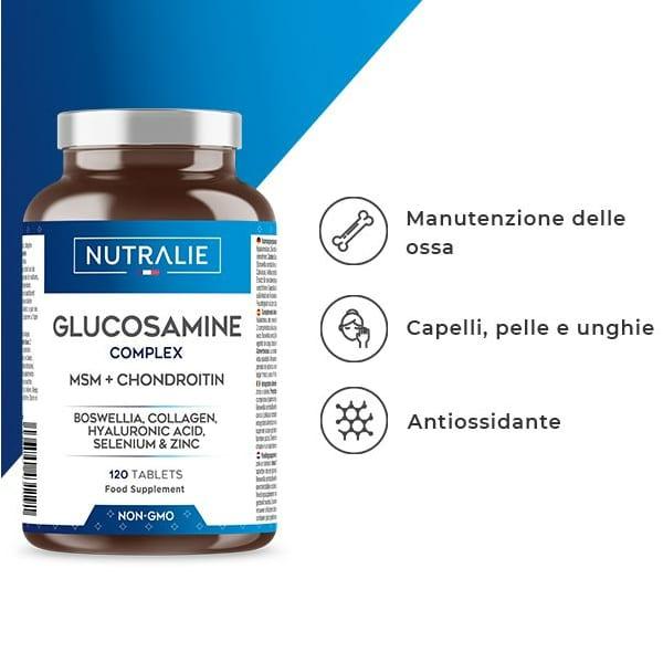 GLUCOSAMINA COMPLEX : glucosamina, condroitina e metilsulfonilmetano
