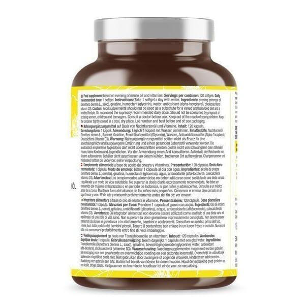 OLIO DI ENOTERA COMPLEX: 10% di GLA, acido gamma-linolenico