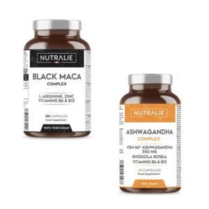 PACK LIB-PLUS UOMO: Maca Nera 24.000 mg + 550 Mg di Ashwagandha
