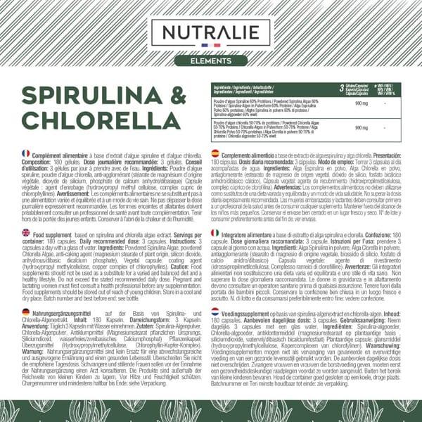 SPIRULINA & CLORELLA: 1800mg - Detox, Energia, Forza & Effetto Sazietà