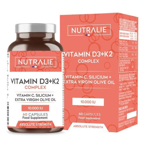 VITAMINA D3+K2 COMPLEX: colecalciferolo e menachinone, formula concentrata.
