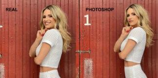 MICHELLE HUNZIKER: una porta malandrina rivela photoshop