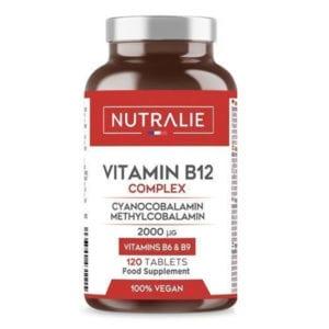 VITAMINA B12: 2000mcg Cianocobalamina e Metilcobalamina + Vit. B9 e B6